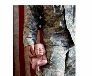 army, baby, and family image