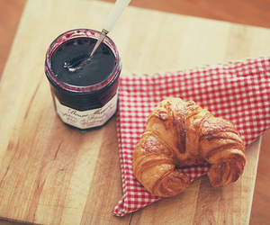 jam, croissant, and food image