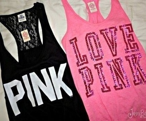 pink, black, and love pink image