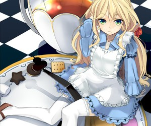 alice in wonderland, anime, and anime girl image