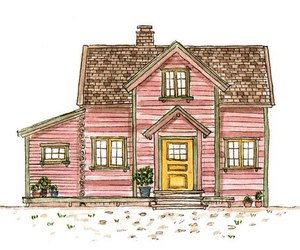 drawing, house, and cute image