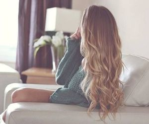 blond, girl, and sweater image