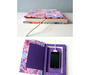 diy, book, and phone image