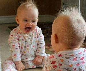 baby, funny, and hair image
