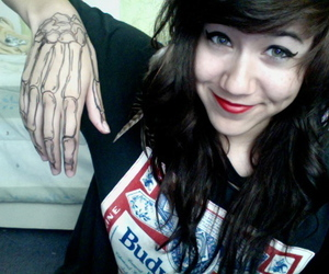 girl, cute, and tattoo image
