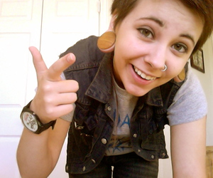 gauges, girl, and sexy as fuck image