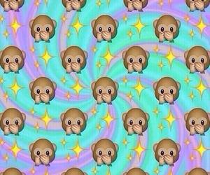 monkey, background, and emoji image