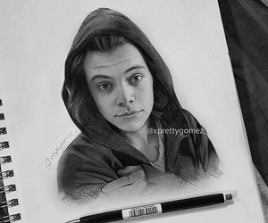 art, Harry Styles, and drawing image