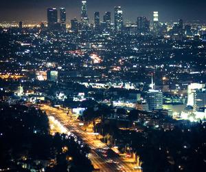 city, light, and california image