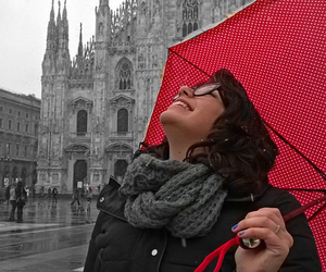 black and white, italy, and milan image