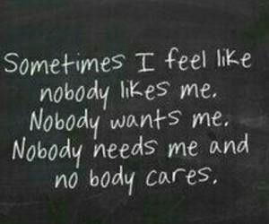 sad, alone, and nobody image