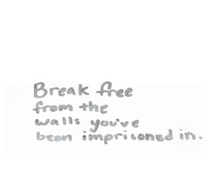 confinement, freedom, and handwriting image