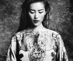 model, asian, and liu wen image