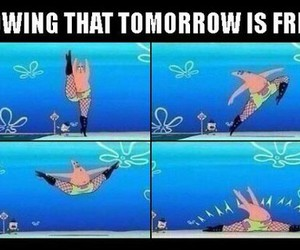friday, funny, and patrick image