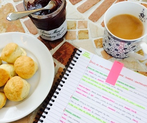 coffe, university girl, and food image