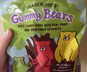 candy, gummy bears, and trader joes image