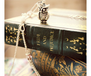 book, pride and prejudice, and owl image