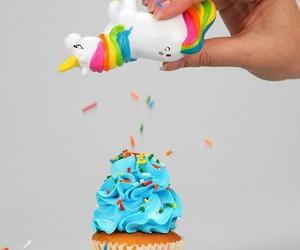 unicorn, cupcake, and food image