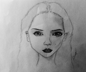 art, b&w, and beginner image