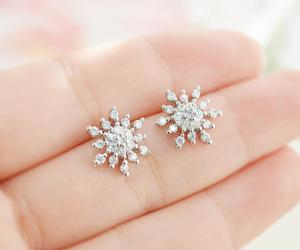earring, snowflake, and teen image