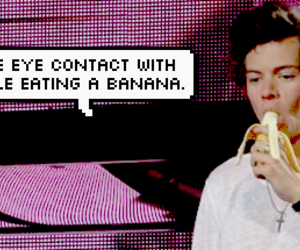 bananas, Harry Styles, and one direction image