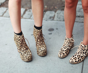 shoes, fashion, and leopard image