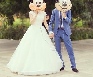wedding, couple, and disney image