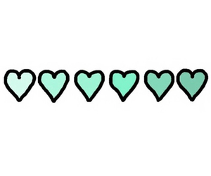 overlay, heart, and green image