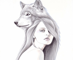 nature, wolf, and she wolf image