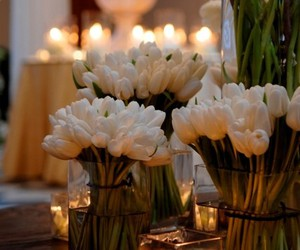 flowers, candles, and tulips image