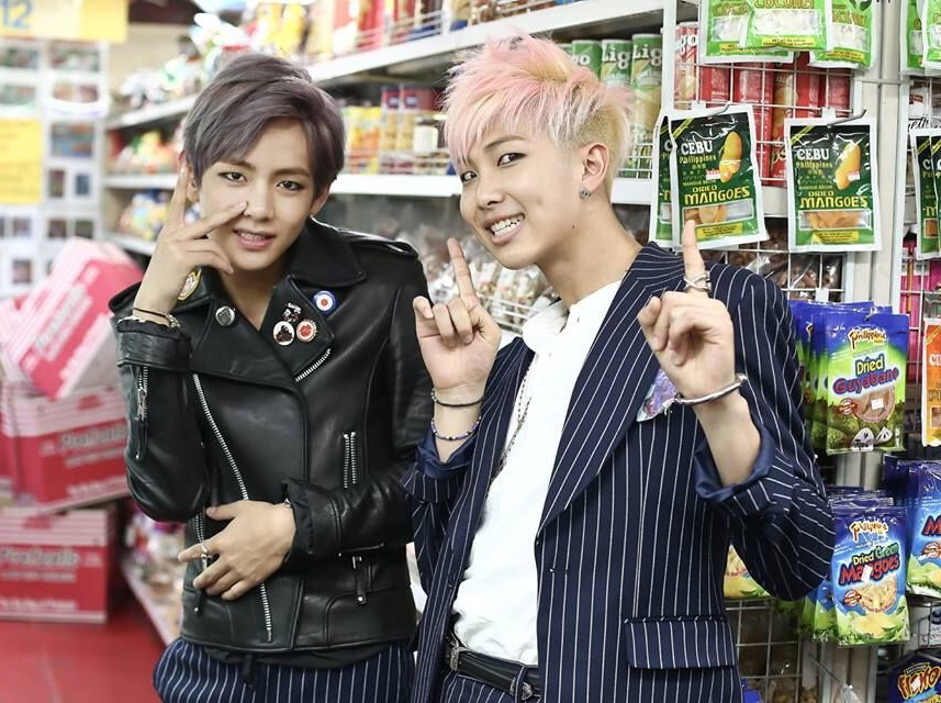V And Rap Monster War Of Hormone Photoshoot On We Heart It