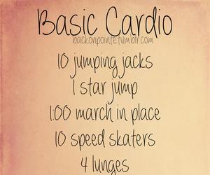 workout, basic, and cardio image