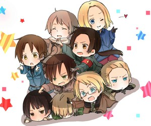 hetalia, anime, and chibi image