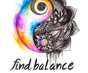 balance, peace, and life image