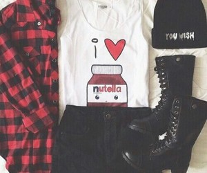 nutella, fashion, and outfit image