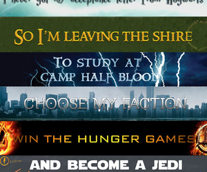 harry potter, hunger games, and star wars image