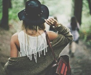 girl, hat, and hipster image