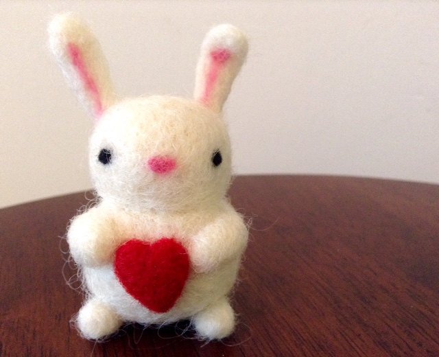 animal, bunny, and felted image