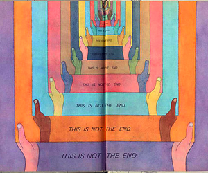 hands, book, and end image