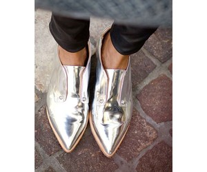 shoes, silver, and toe image