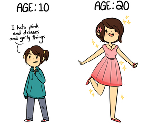 dress, funny, and pink image