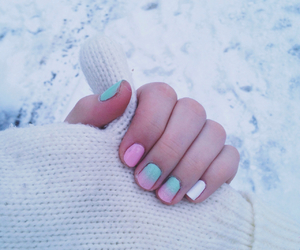 beautiful, nails, and ombre image