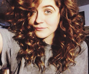 brunette, classy, and curly hair image
