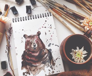 bear and drawing image