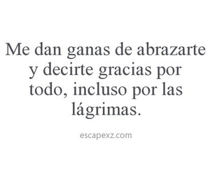 frases, lágrimas, and thanks image