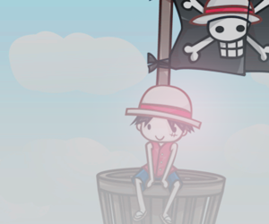 chibi, one piece, and luffy image