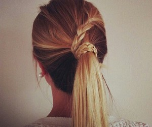 braid, hair, and hairdo image