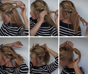 hair, tutorial, and style image