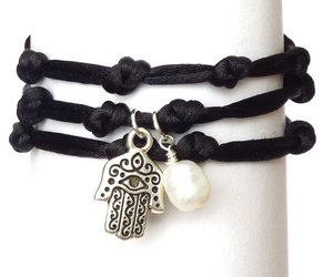 charm bracelet, yoga, and hamsa image