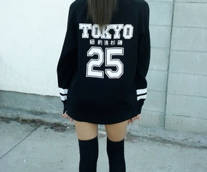 tokyo, black, and sweater image